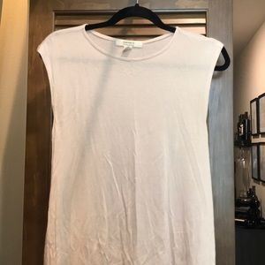 Cream high low tunic